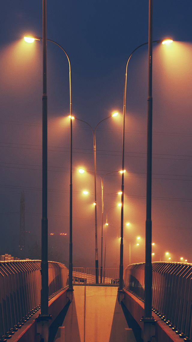 freeios8.com-iphone-4-5-6-plus-ipad-ios8-mv05-night-bridge-city-view-lights-street-orange-dark