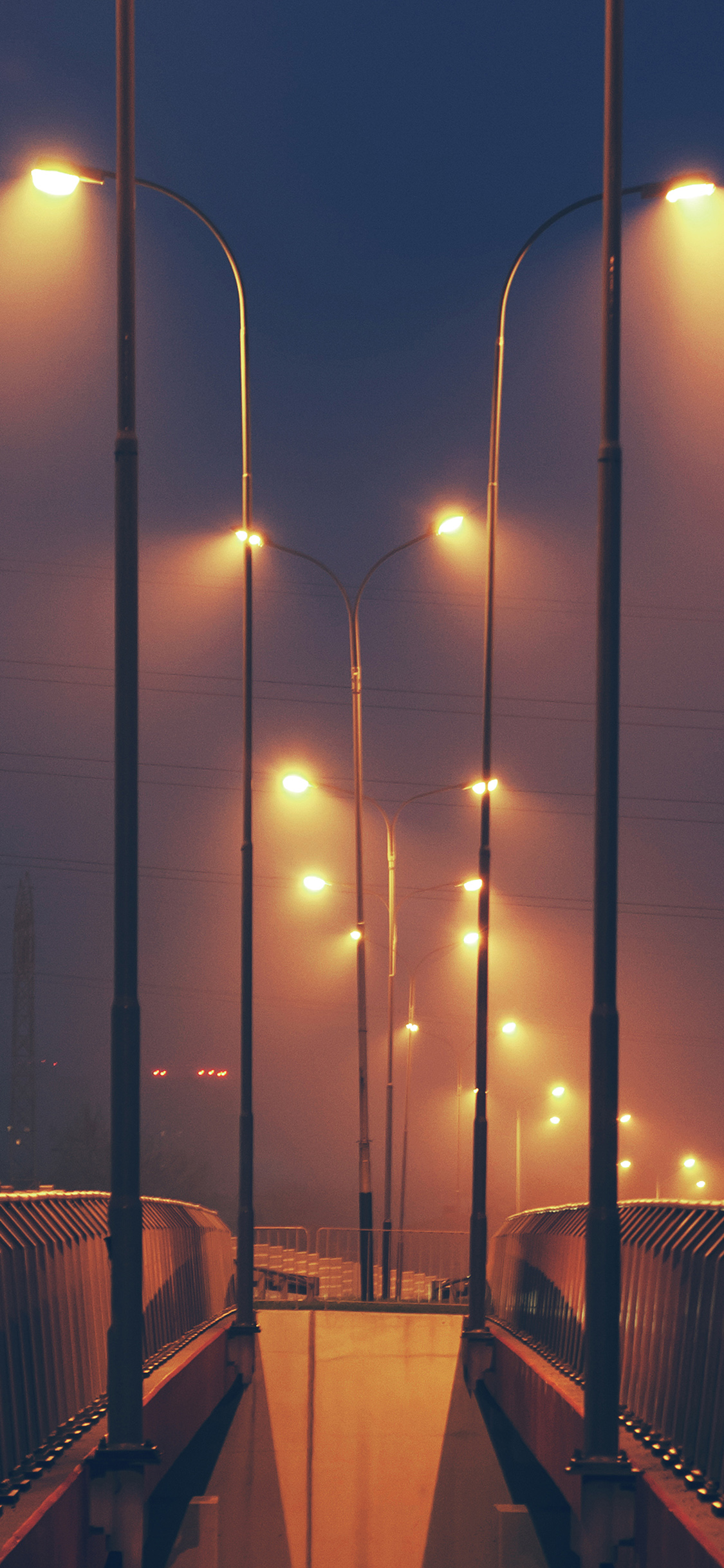 Iphonepapers Com Iphone Wallpaper Mv05 Night Bridge City View