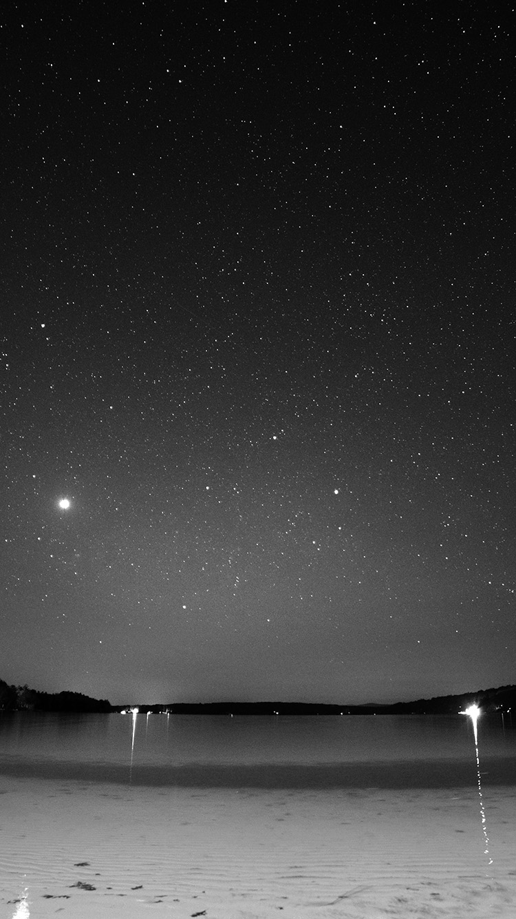Papers.co-iPhone5-iphone6-plus-wallpaper-mv36-night-beach-sea-vacation-nature-star-sky-dark-bw