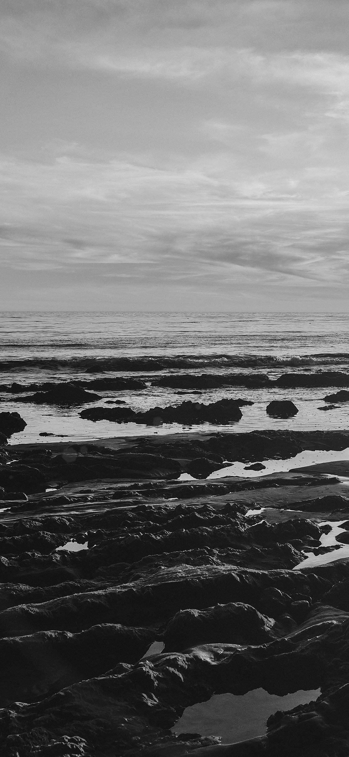iPhoneXpapers.com-Apple-iPhone-wallpaper-mv45-ocean-sea-water-sky-sunset-afternoon-nature-dark-bw