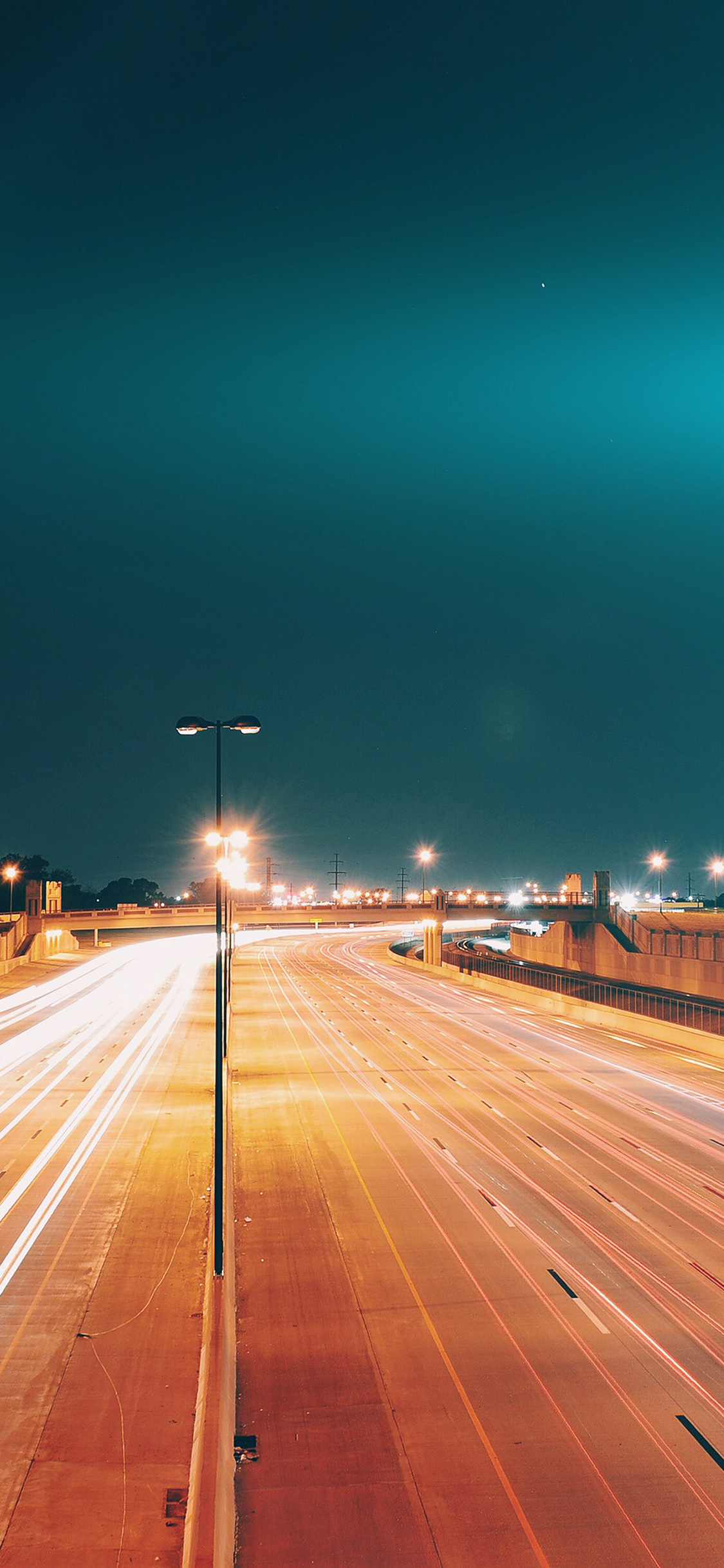 iPhoneXpapers.com-Apple-iPhone-wallpaper-mv60-road-street-city-night-car-lights-blue-flare