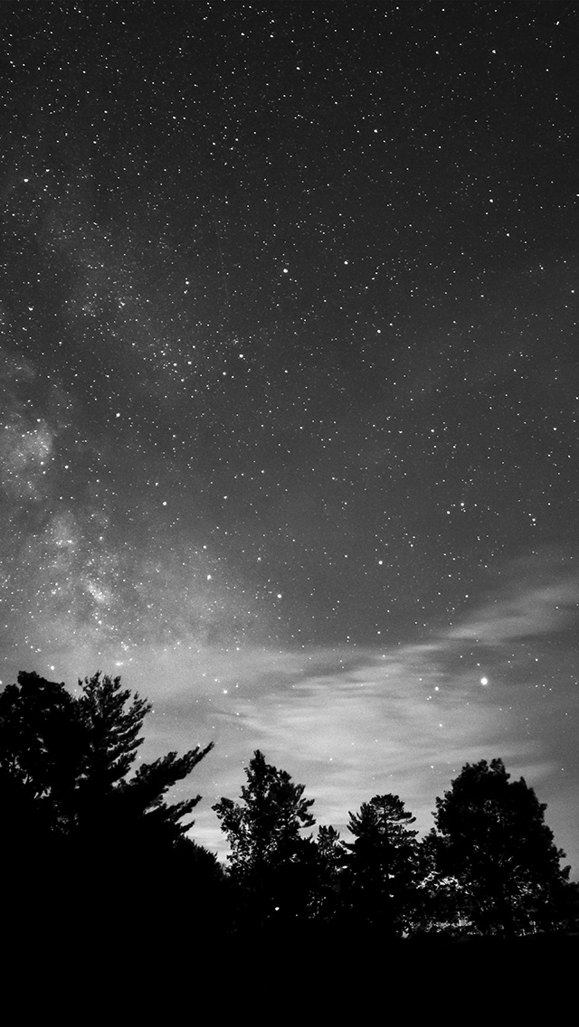 freeios8.com-iphone-4-5-6-plus-ipad-ios8-mv72-sky-night-star-dark-mountain-cloud-shadow-bw