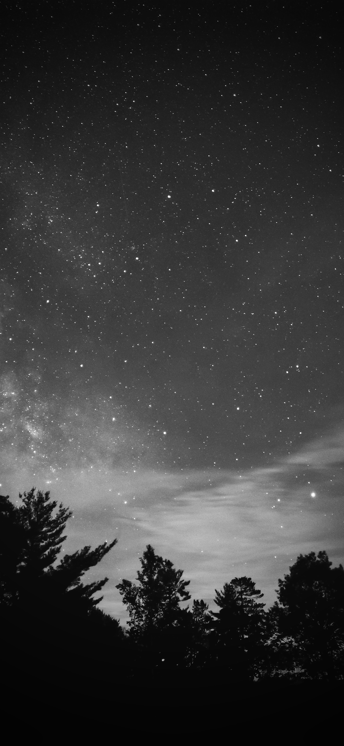 iPhoneXpapers.com-Apple-iPhone-wallpaper-mv76-sky-night-star-dark-mountain-cloud-vignette-bw