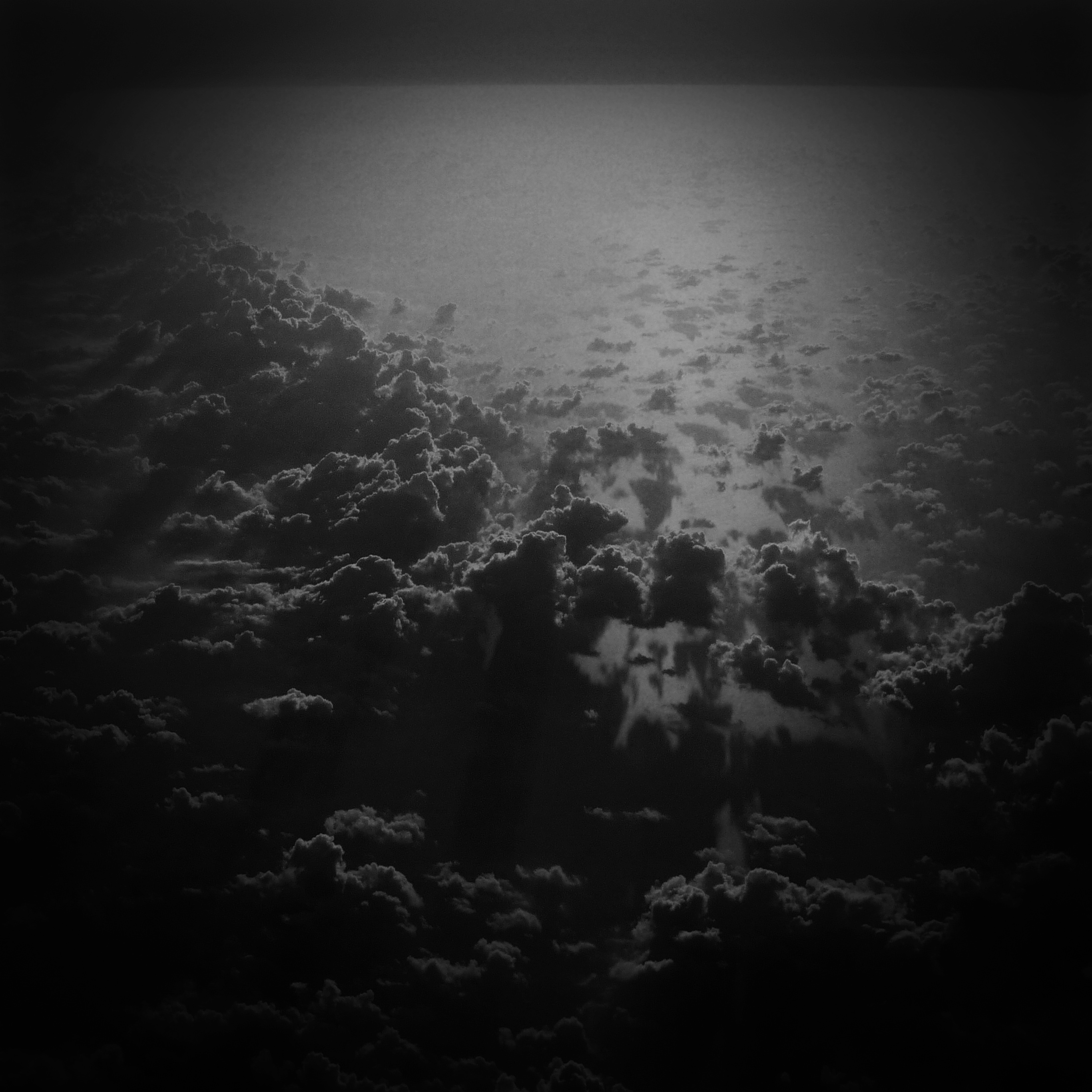 Mv79 Cloud Nine Sky Fly Sunset Nature Bw Dark Wallpaper
