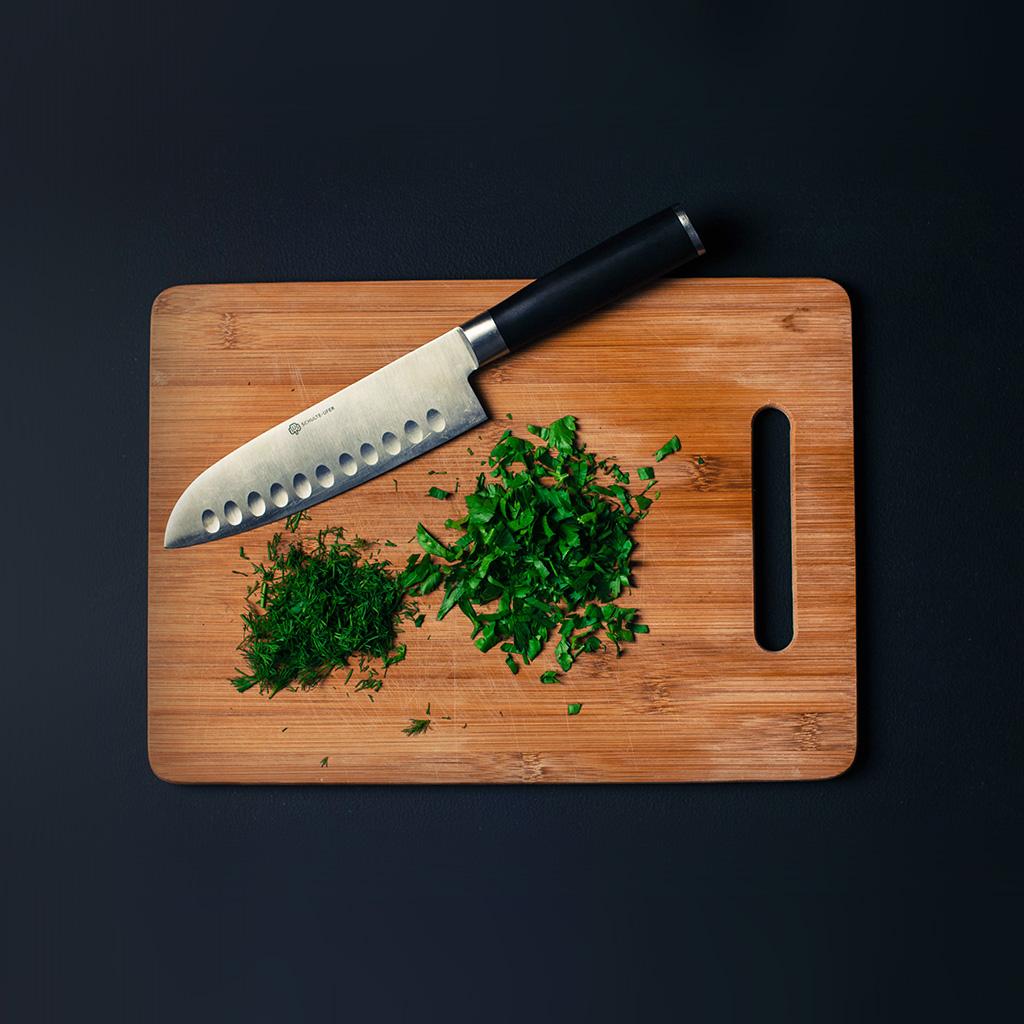 Green Kitchen Knife: Medium