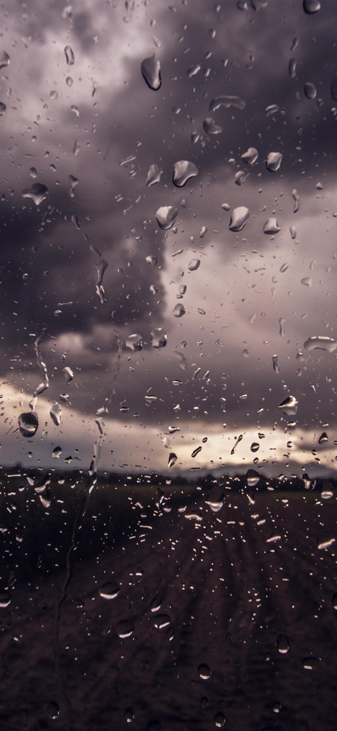 iPhonexpapers.com-Apple-iPhone-wallpaper-mv91-rainy-window-nature-water-drop-road-blue