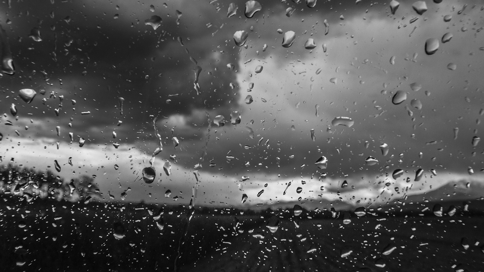 1680 x 1050 - Rainy window wallpaper ...