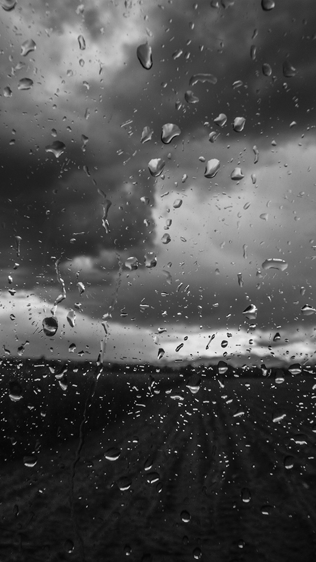 freeios8.com-iphone-4-5-6-plus-ipad-ios8-mv92-rainy-window-nature-water-drop-road-dark-bw