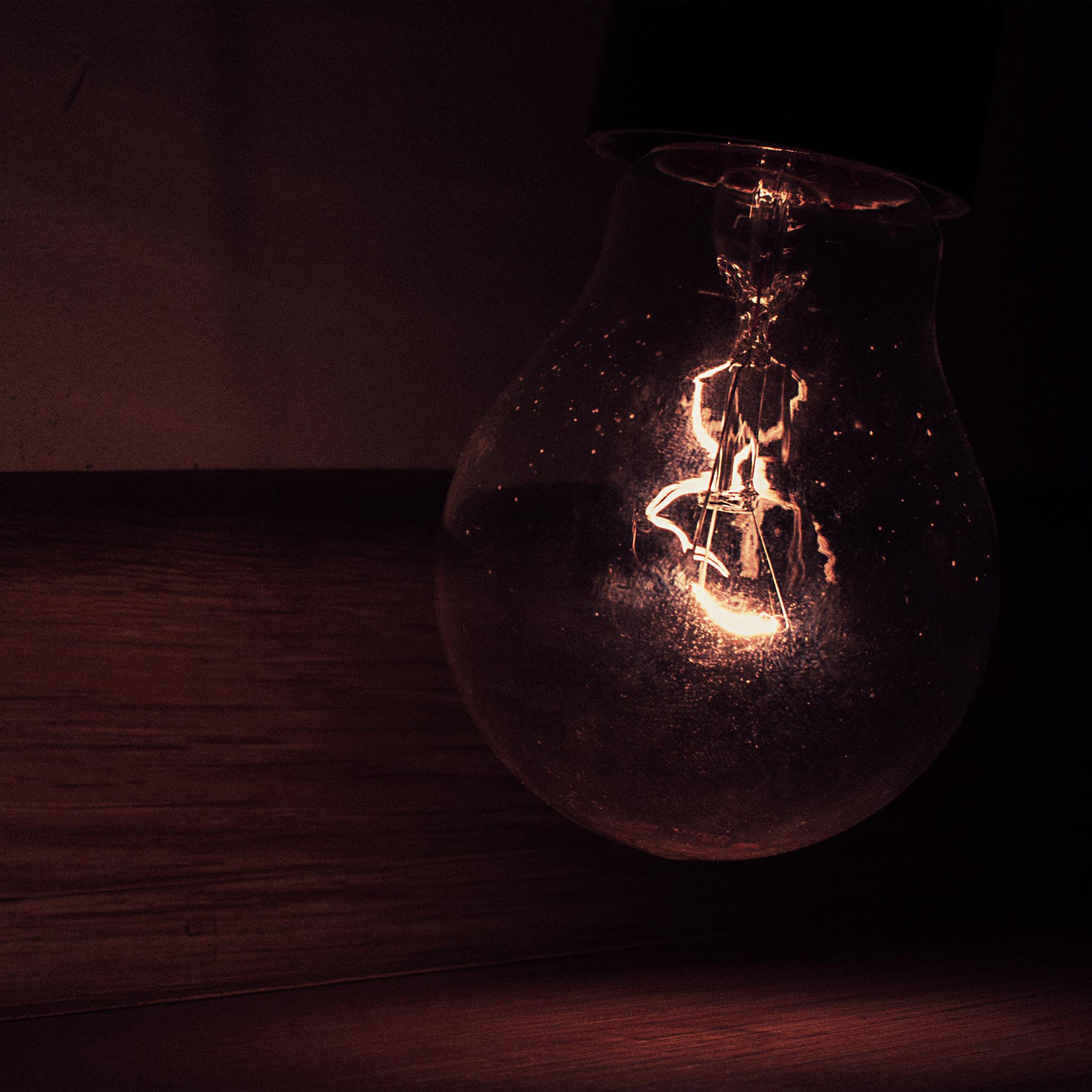 White Lightbulb Aesthetic