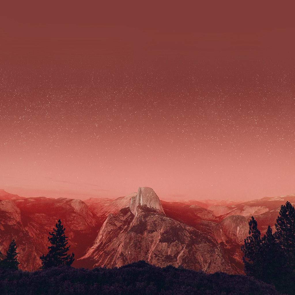 wallpaper-mw11-el-capitan-mountain-wood-night-sky-star-red-fire-wallpaper