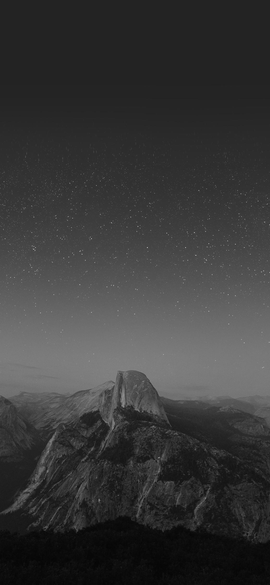 iPhonexpapers.com-Apple-iPhone-wallpaper-mw12-el-capitan-mountain-wood-night-sky-star-dark-bw