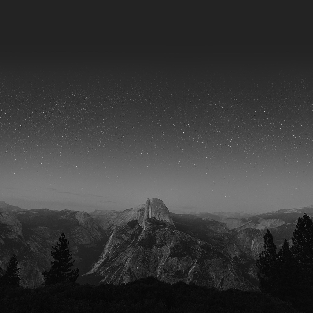 wallpaper-mw12-el-capitan-mountain-wood-night-sky-star-dark-bw-wallpaper