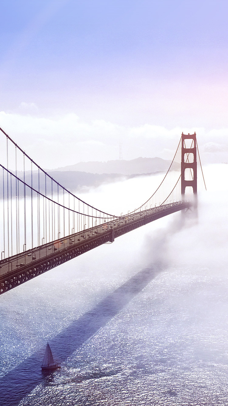 iPhone6papers.co-Apple-iPhone-6-iphone6-plus-wallpaper-mw44-bridge-river-city-lake-boat-blue-fog-nature-flare