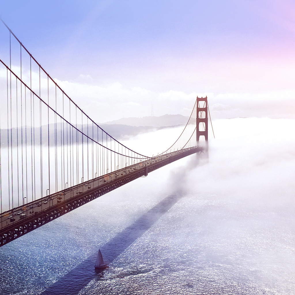 android-wallpaper-mw44-bridge-river-city-lake-boat-blue-fog-nature-flare-wallpaper