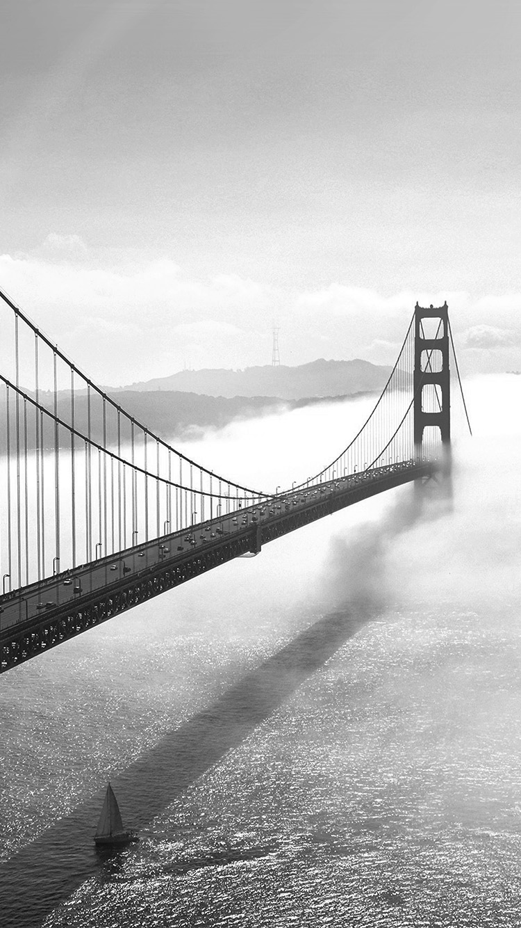 iPhone6papers.co-Apple-iPhone-6-iphone6-plus-wallpaper-mw45-bridge-river-city-lake-boat-fog-nature-bw-dark
