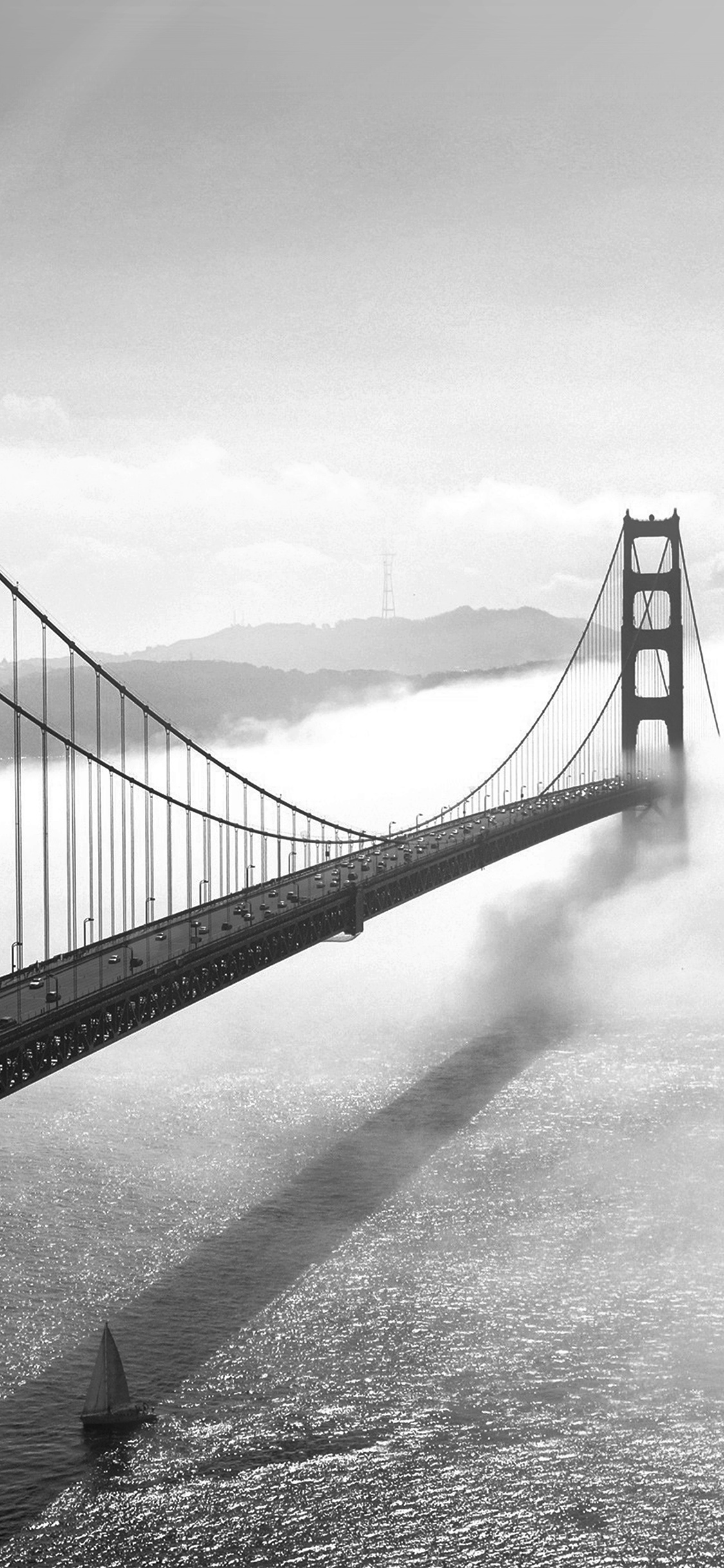 iPhonexpapers.com-Apple-iPhone-wallpaper-mw45-bridge-river-city-lake-boat-fog-nature-bw-dark