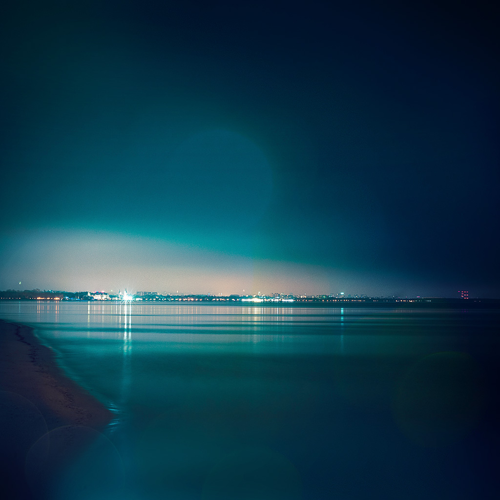 wallpaper-mw57-lake-city-view-night-dark-nature-awesome-blue-flare-wallpaper