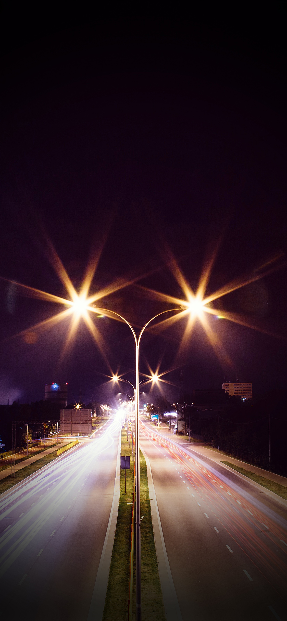 iPhoneXpapers.com-Apple-iPhone-wallpaper-mw69-night-road-exposure-dark-light-city-car-vignette