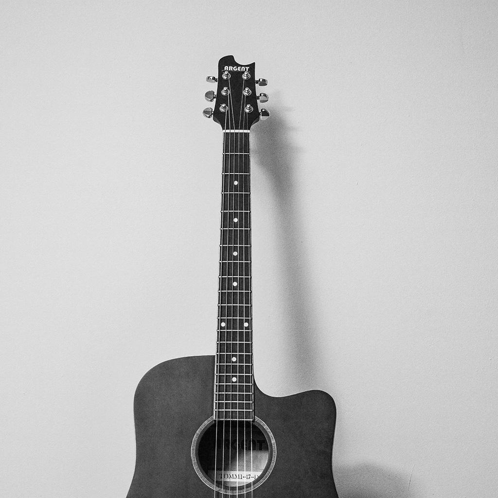Guitar Wallpaper And: Mw79-guitar-art-bw-dark-music-song - Parallax