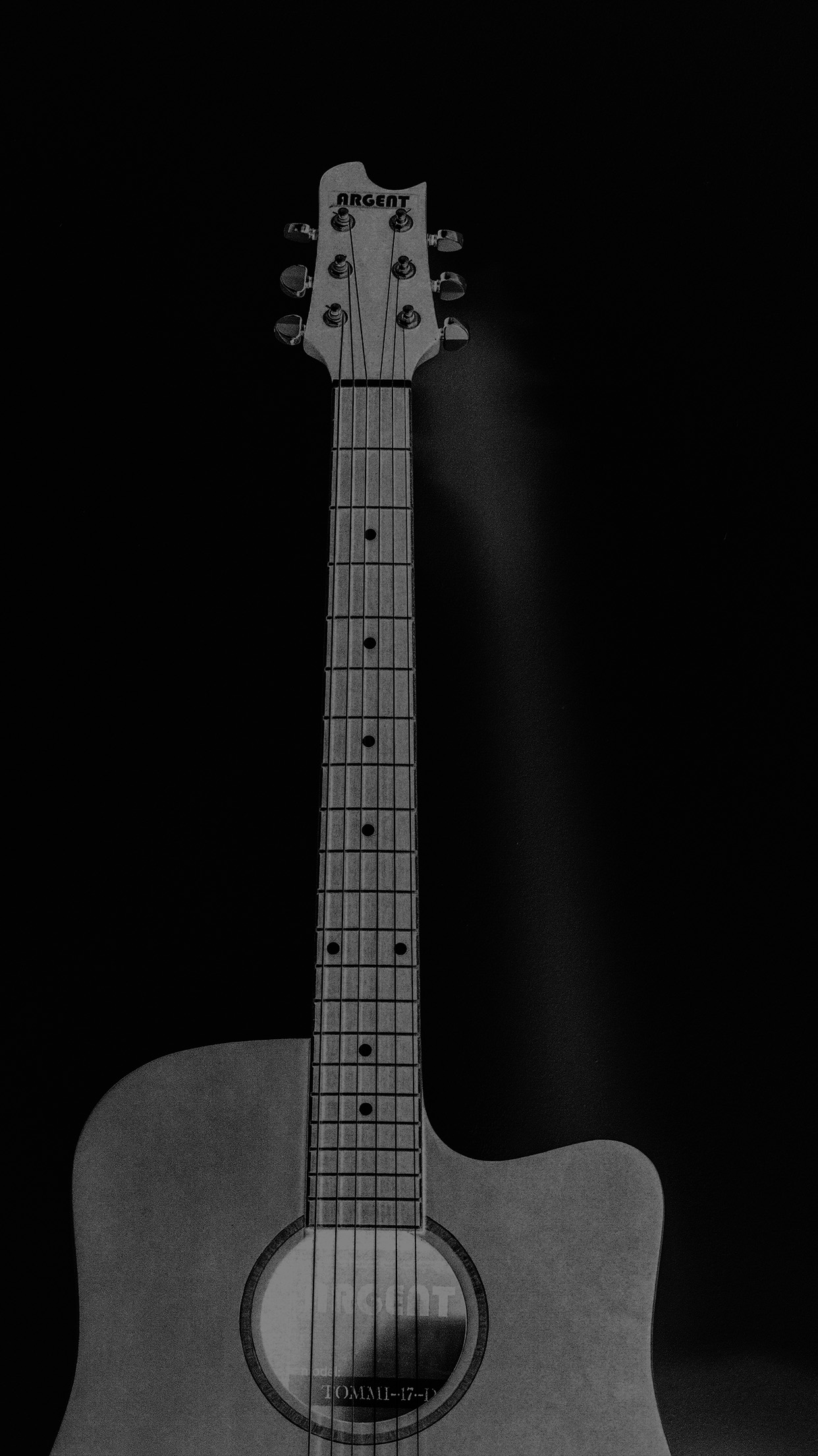 Mw80 Guitar Art Bw Dark Music Song Black
