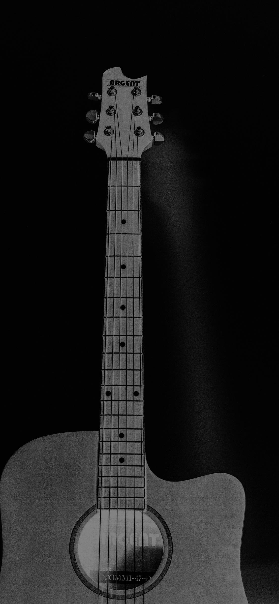 iPhoneXpapers.com-Apple-iPhone-wallpaper-mw80-guitar-art-bw-dark-music-song-black