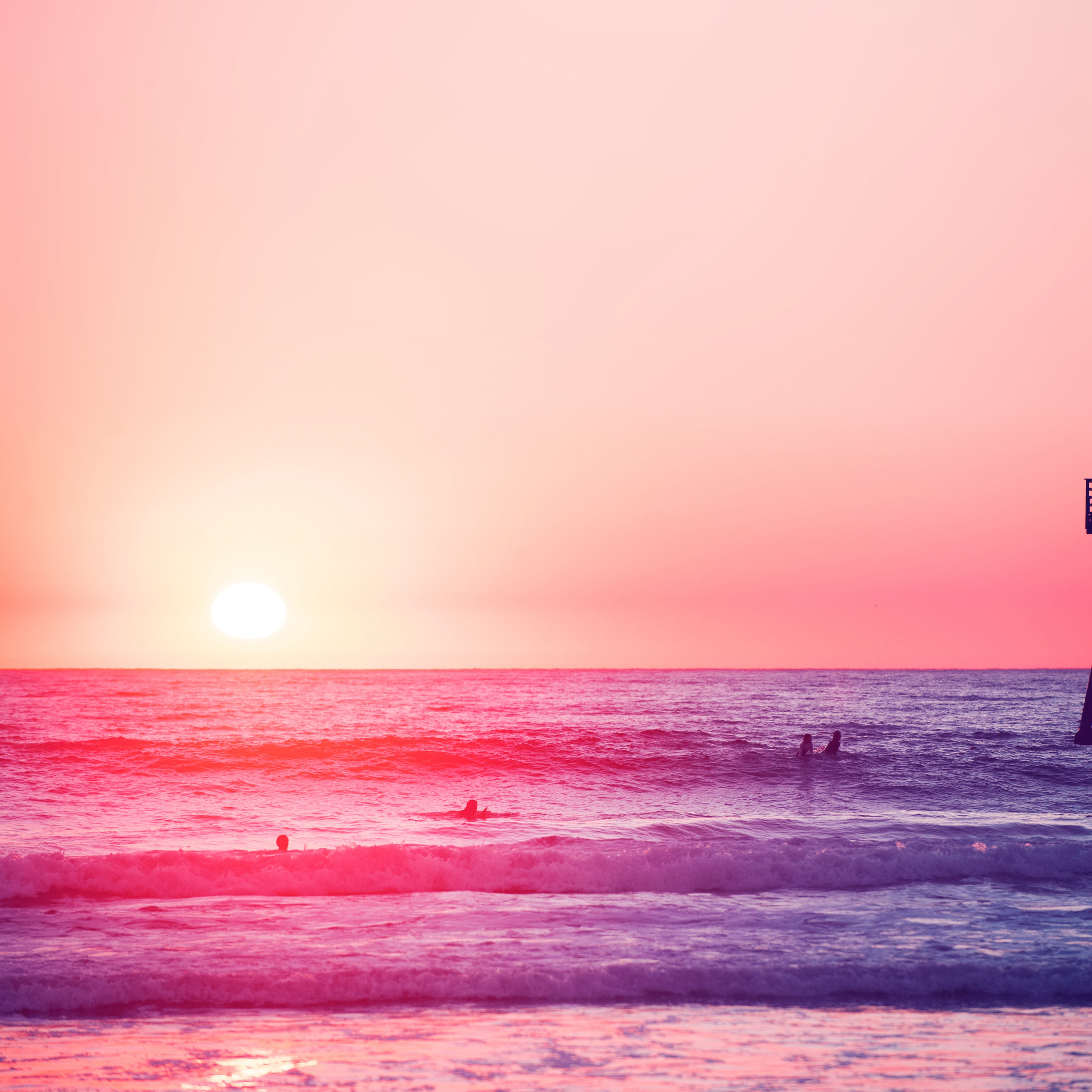 Papers Co Ipad Wallpaper Mw95 Happy Beach Sea Holiday