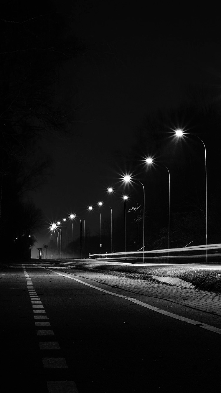 iPhone6papers.co-Apple-iPhone-6-iphone6-plus-wallpaper-mx29-street-lights-dark-night-car-city-bw