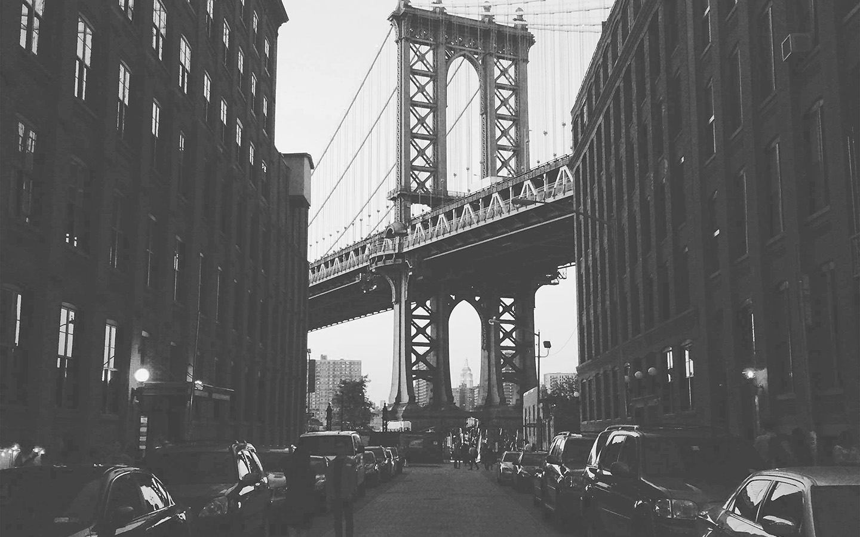 Mx43 Newyork Bridge City Building Architecture Street Bw