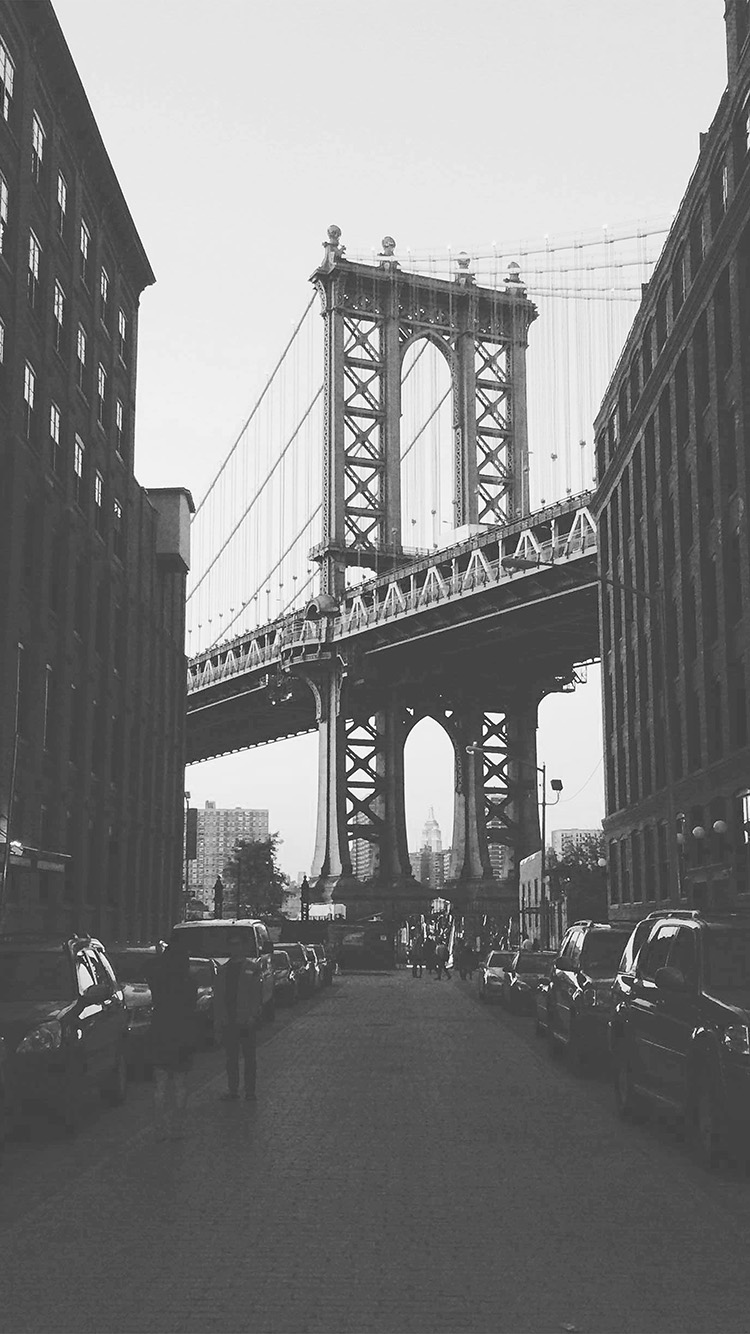 iPhone7papers.com-Apple-iPhone7-iphone7plus-wallpaper-mx43-newyork-bridge-city-building-architecture-street-bw