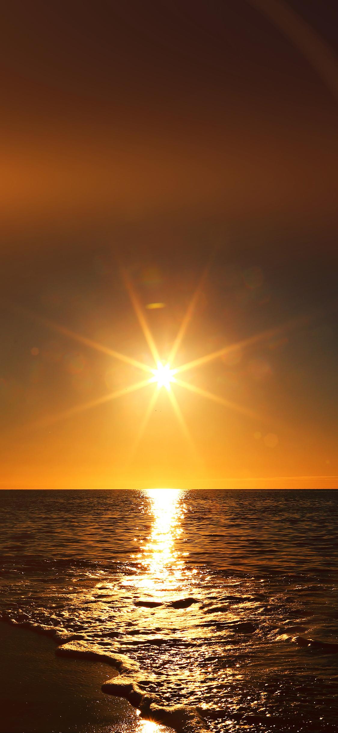 iPhoneXpapers.com-Apple-iPhone-wallpaper-mx57-sunset-beach-sea-nature-sky-flare