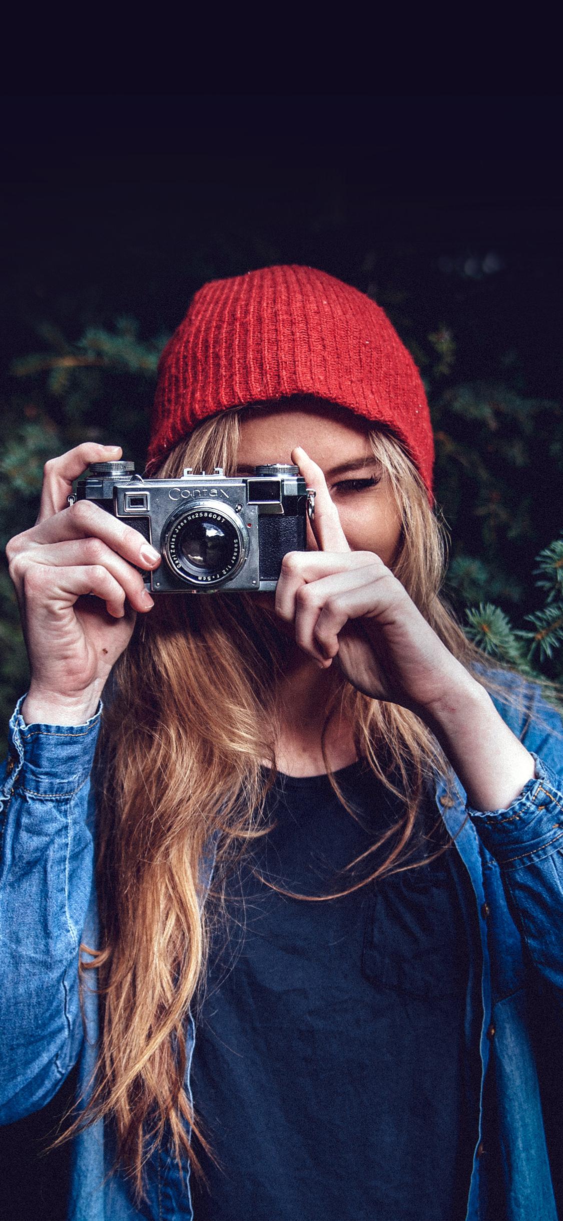 iPhonexpapers.com-Apple-iPhone-wallpaper-mx76-photo-taking-girl-blue-cute