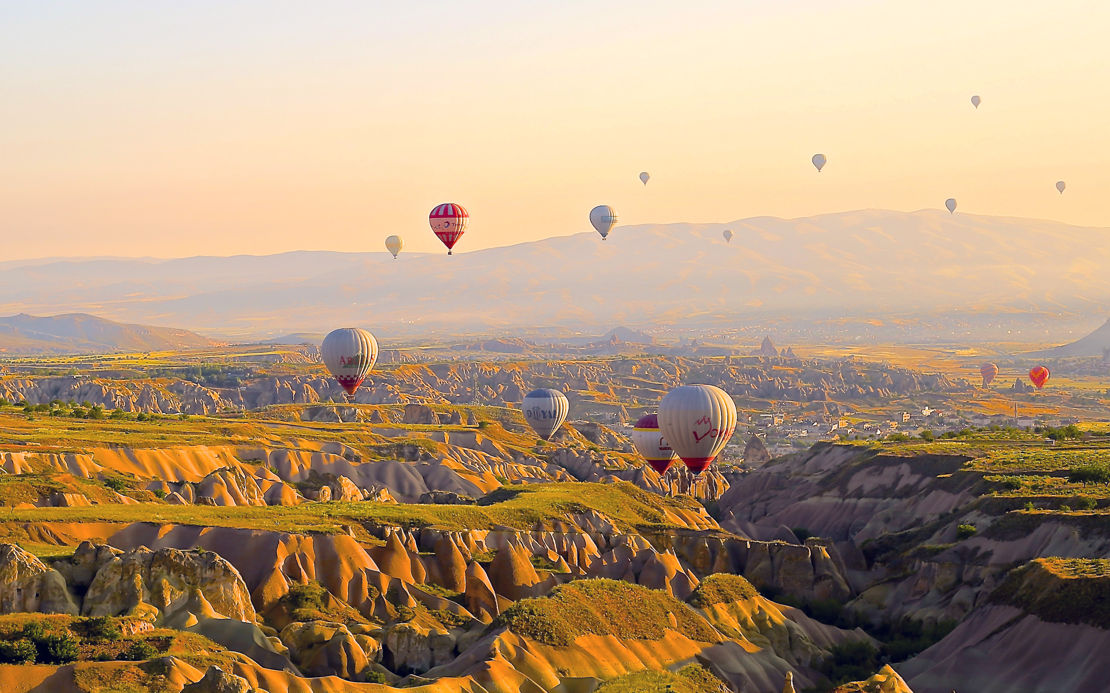 wallpaper for desktop, laptop | mx87-turkey-balloon-travel-mountain