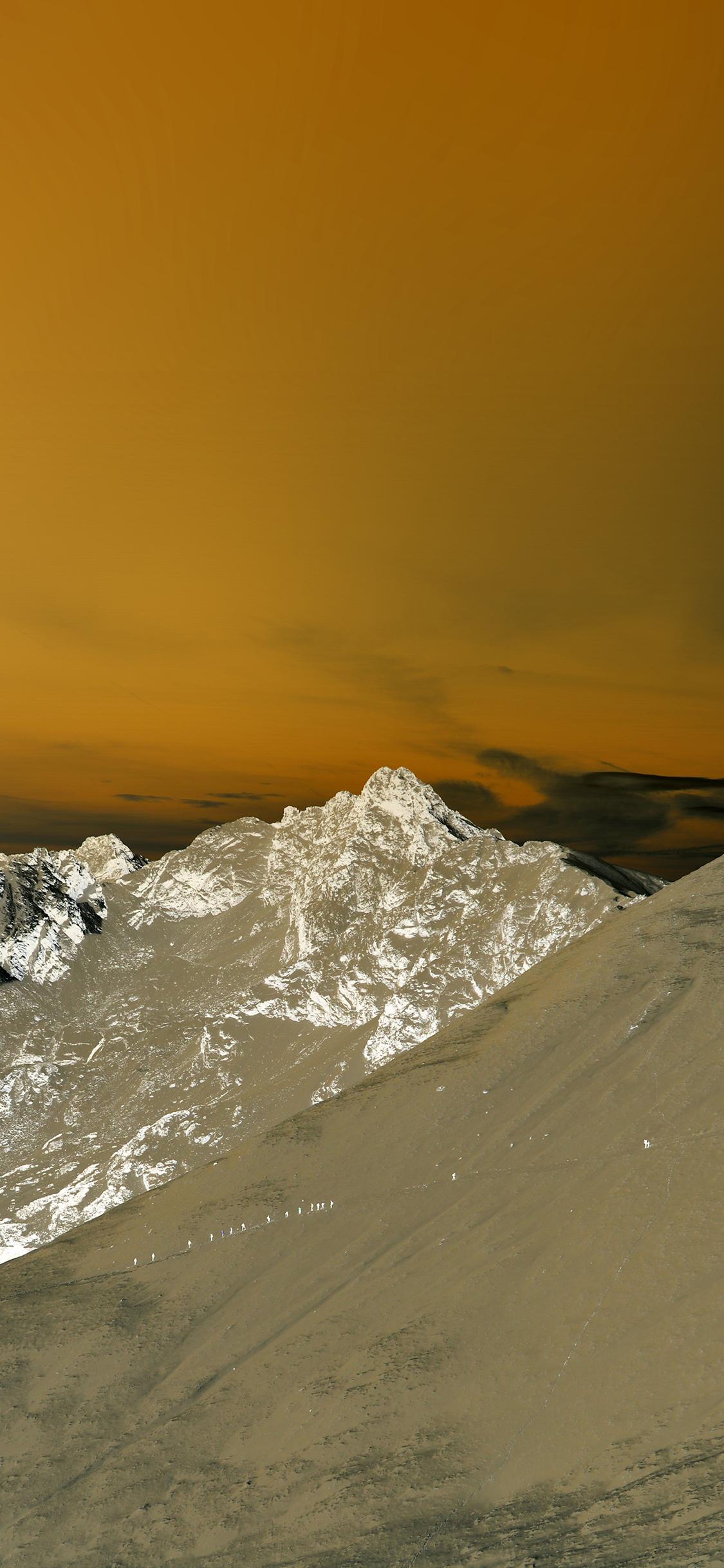 iPhonexpapers.com-Apple-iPhone-wallpaper-mx98-winter-mountain-snow-gold-nature-orange-dark