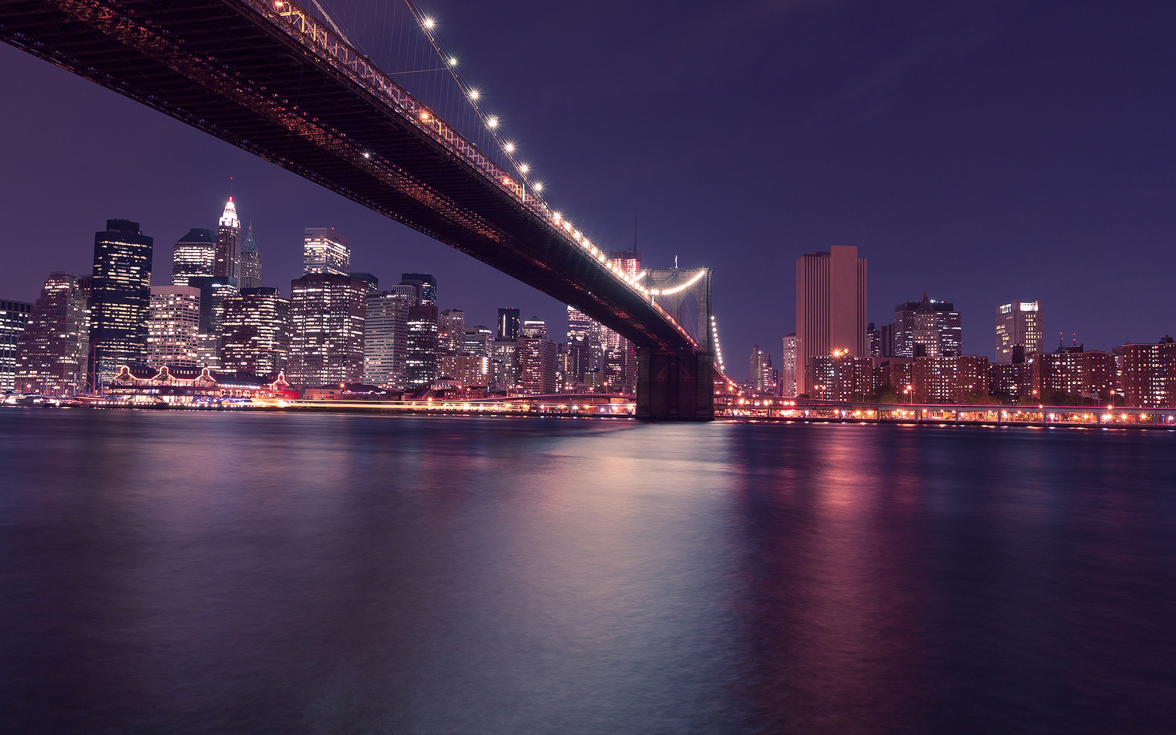 My03 City Night River View Nature Wallpaper