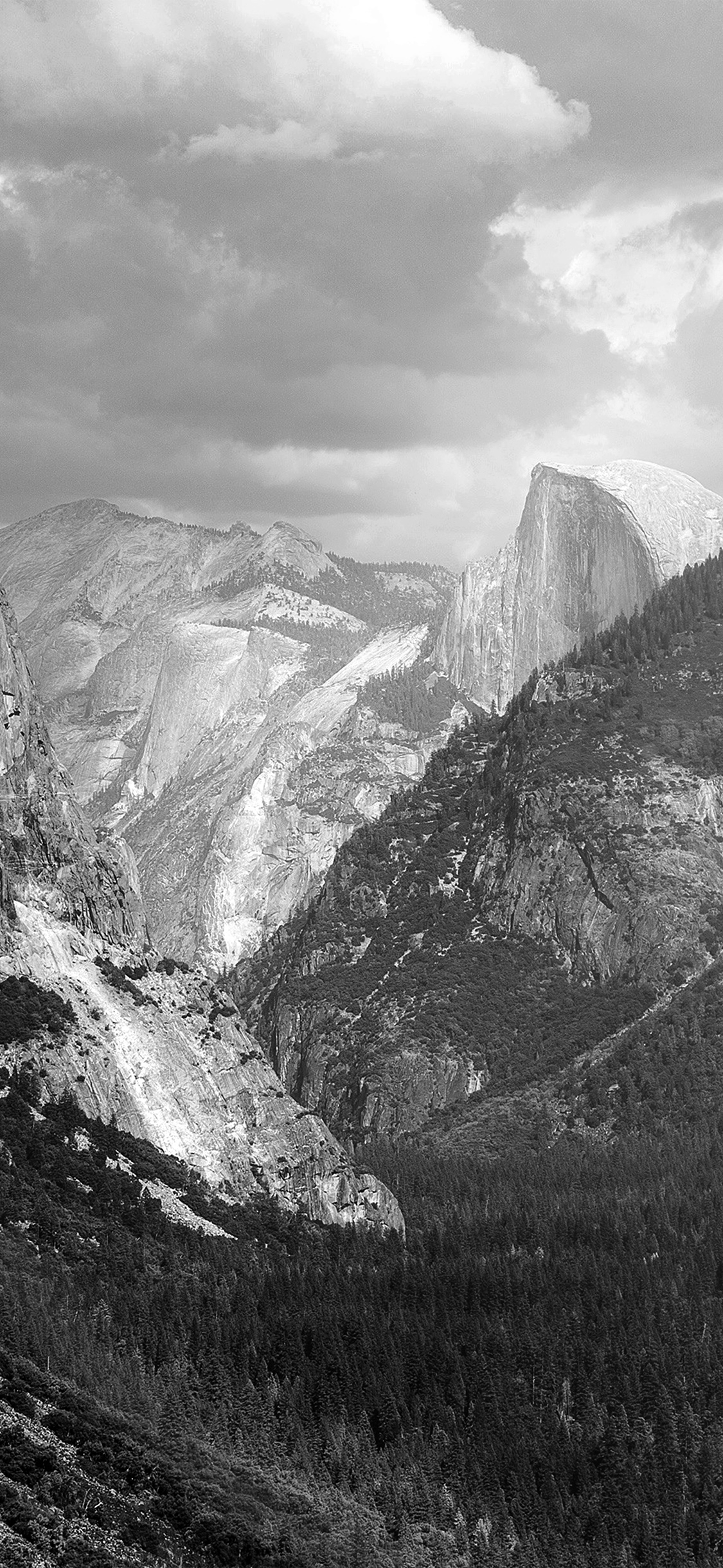 iPhoneXpapers.com-Apple-iPhone-wallpaper-my11-yosemite-mountain-nature-rock-sky-forest-cloud-bw