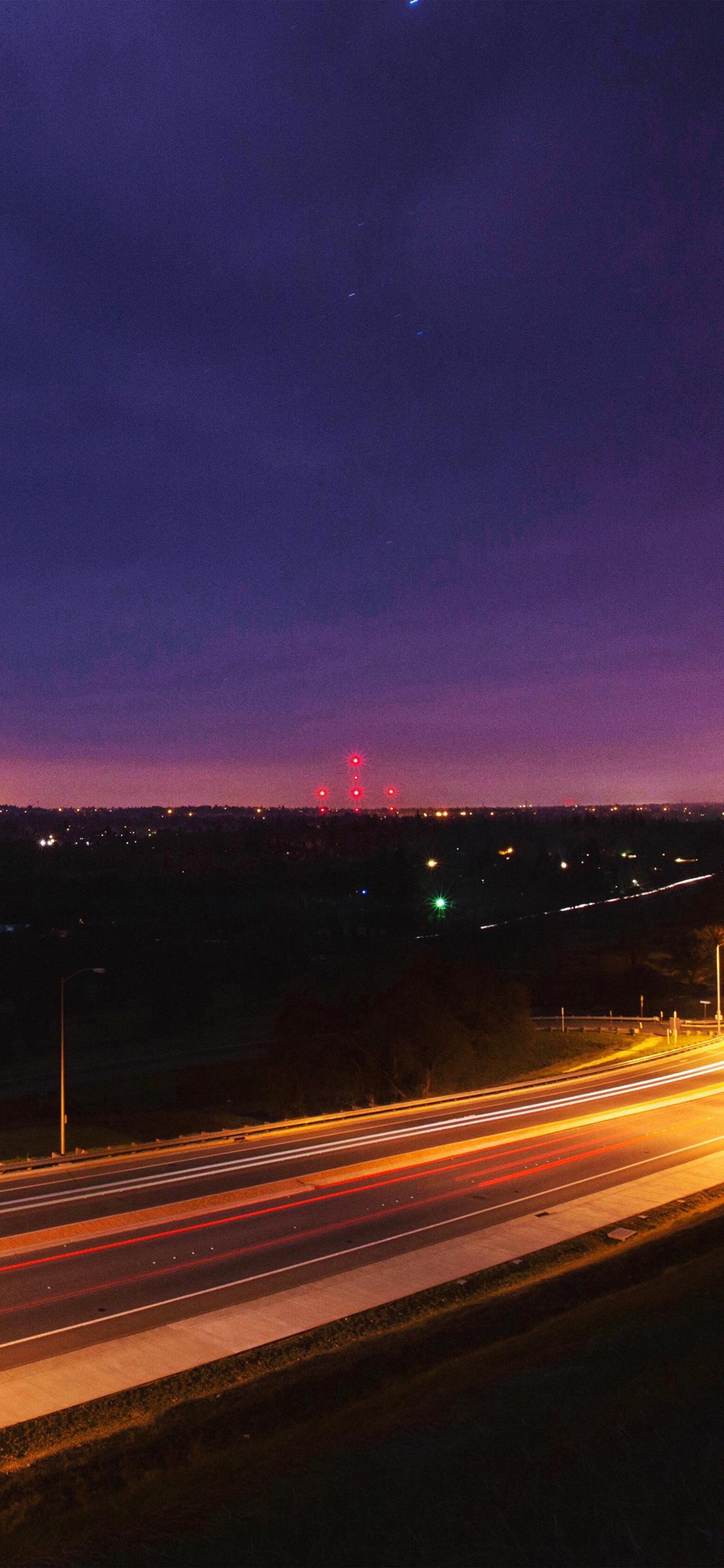 My32 Road Lights Night City Sky Dark Wallpaper