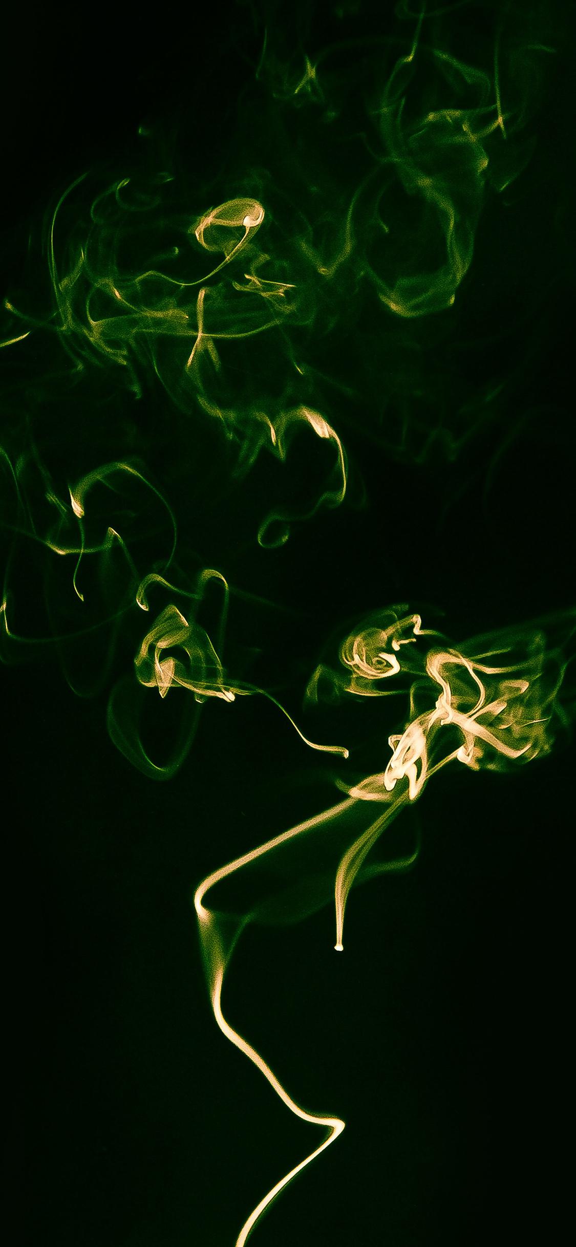 My39 Smoke Green Dark Minimal Wallpaper