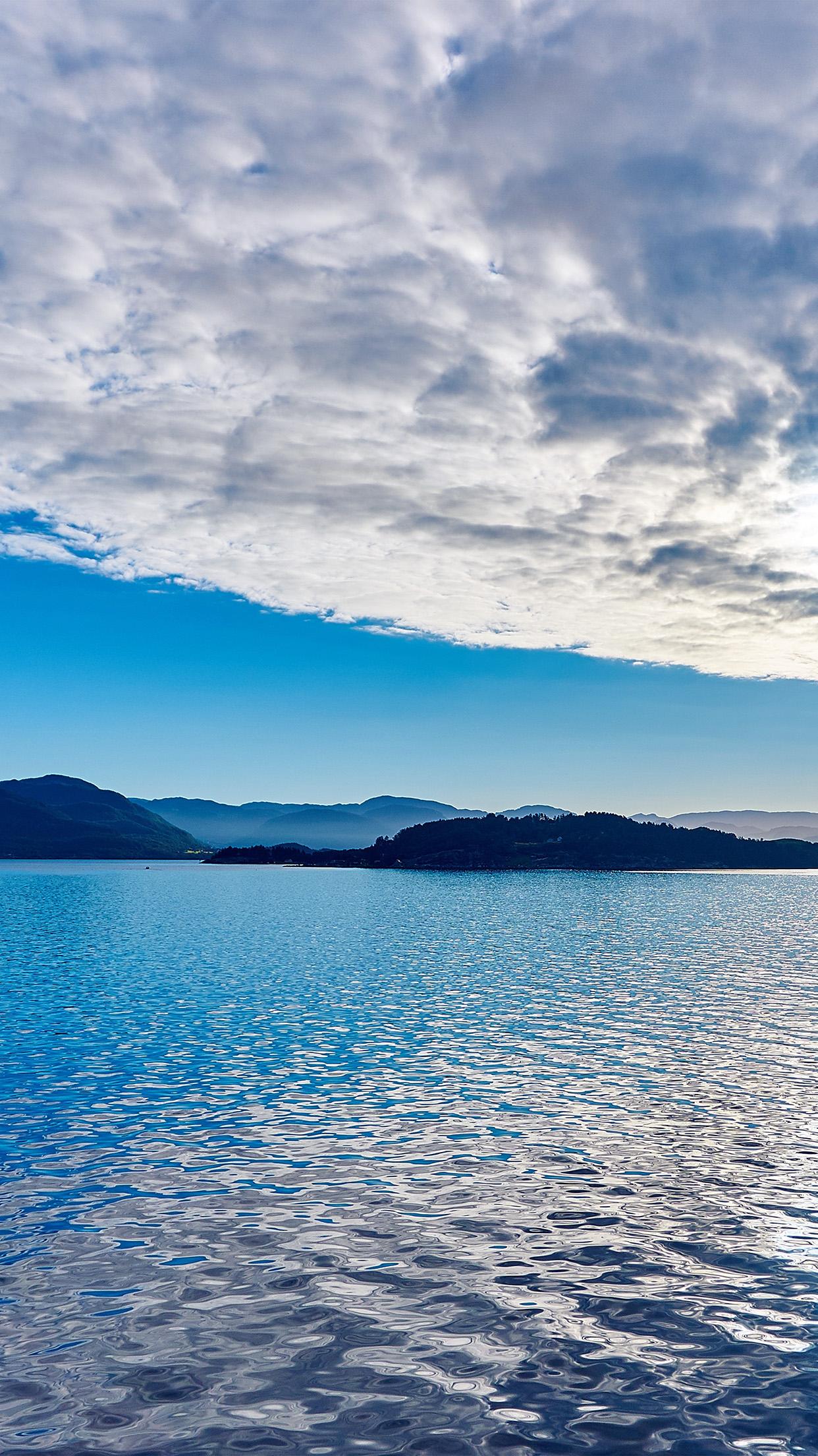 My54 Lake Mountain Summer Nature Blue Healing Cloud Wallpaper