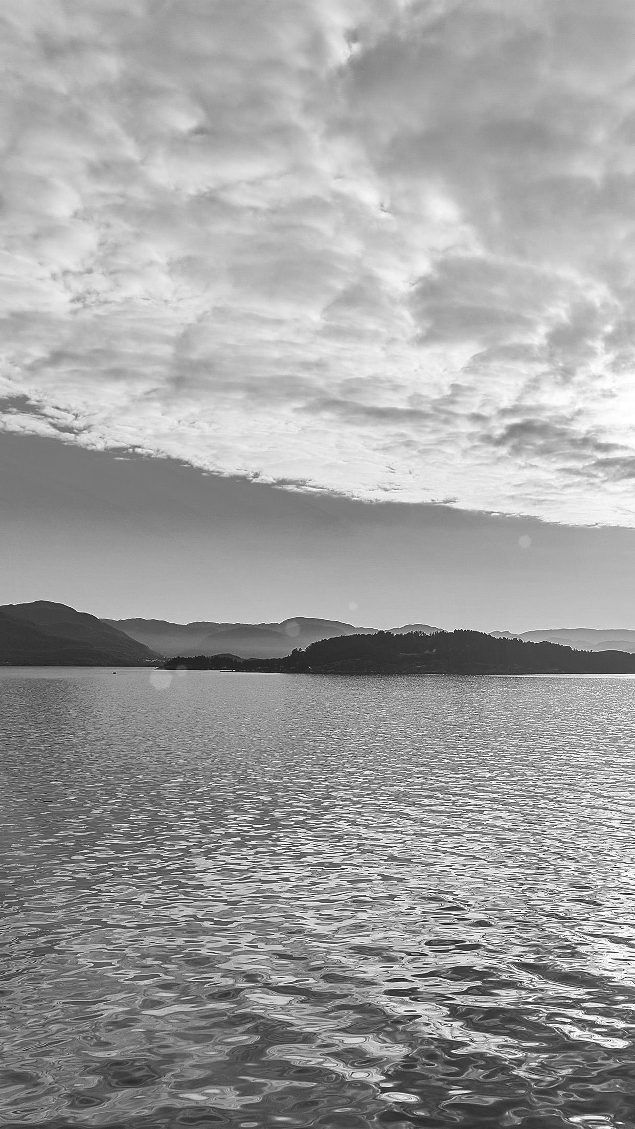 Iphonexpapers Com Iphone X Wallpaper My56 Lake Mountain Summer Nature Blue Healing Cloud Bw
