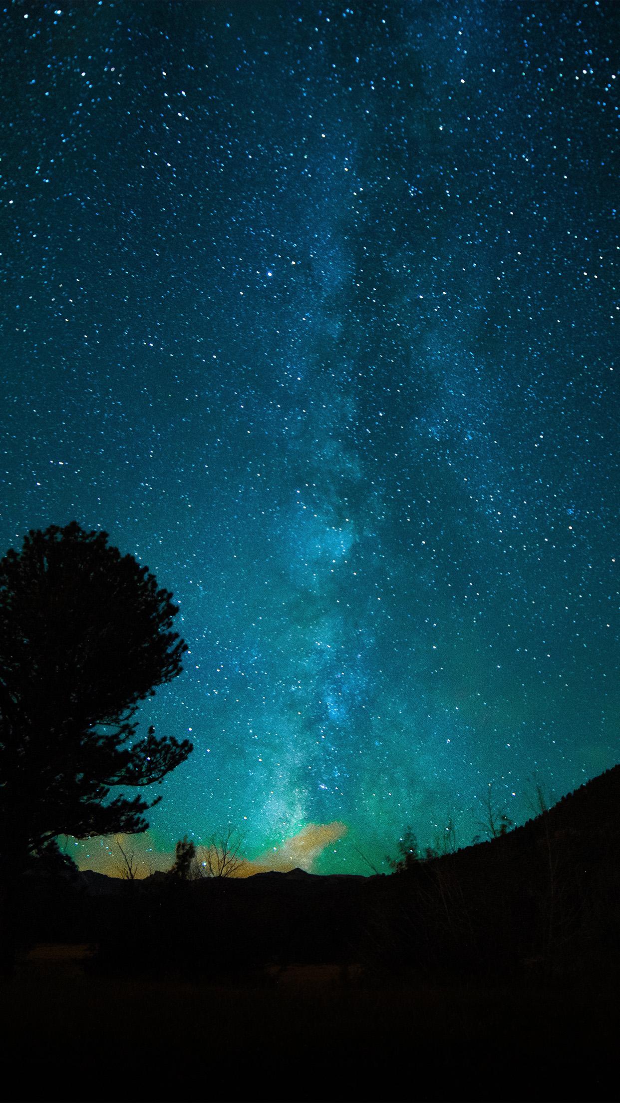 Iphone7papers Com Iphone7 Wallpaper My57 Aurora Night Sky Star