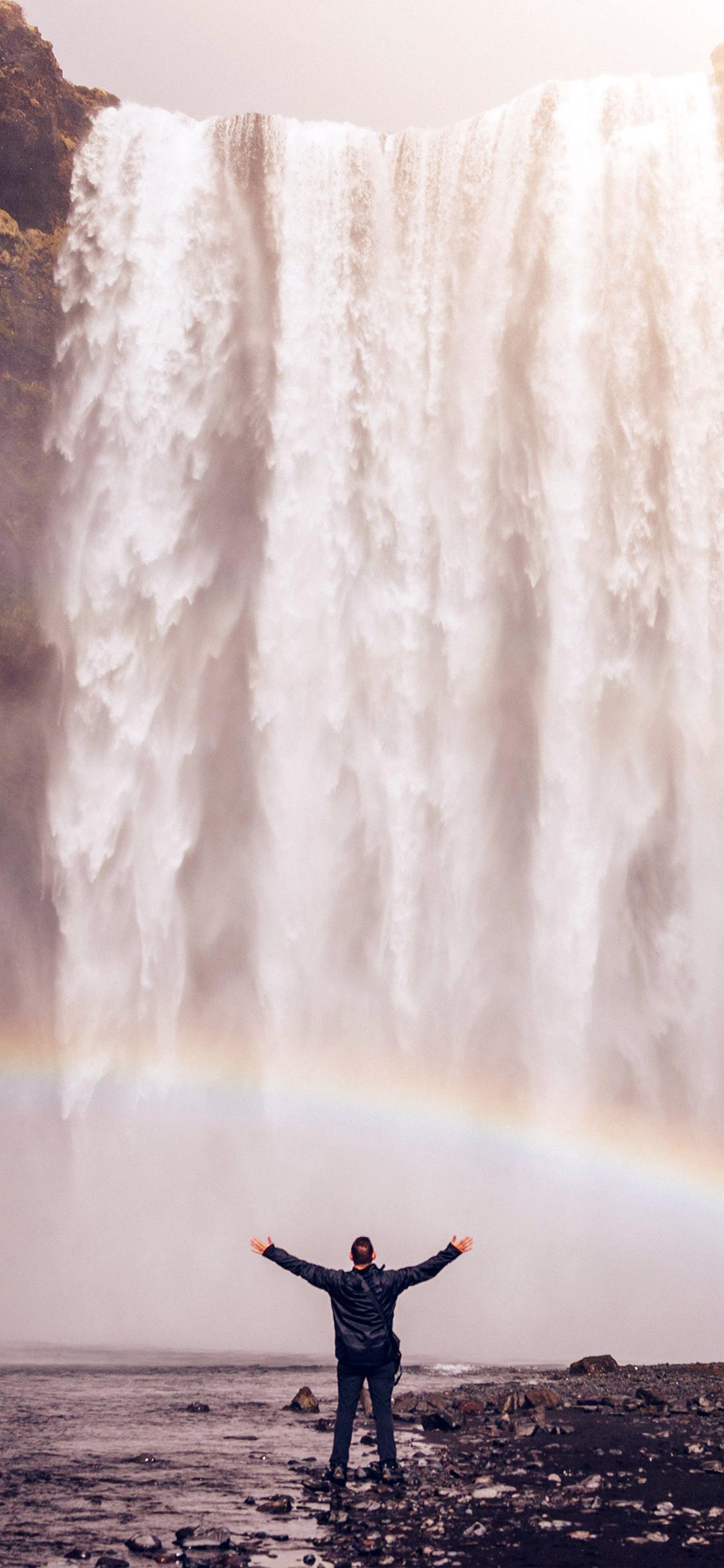 Iphonexpapers Com Iphone X Wallpaper My74 Waterfall Rainbow
