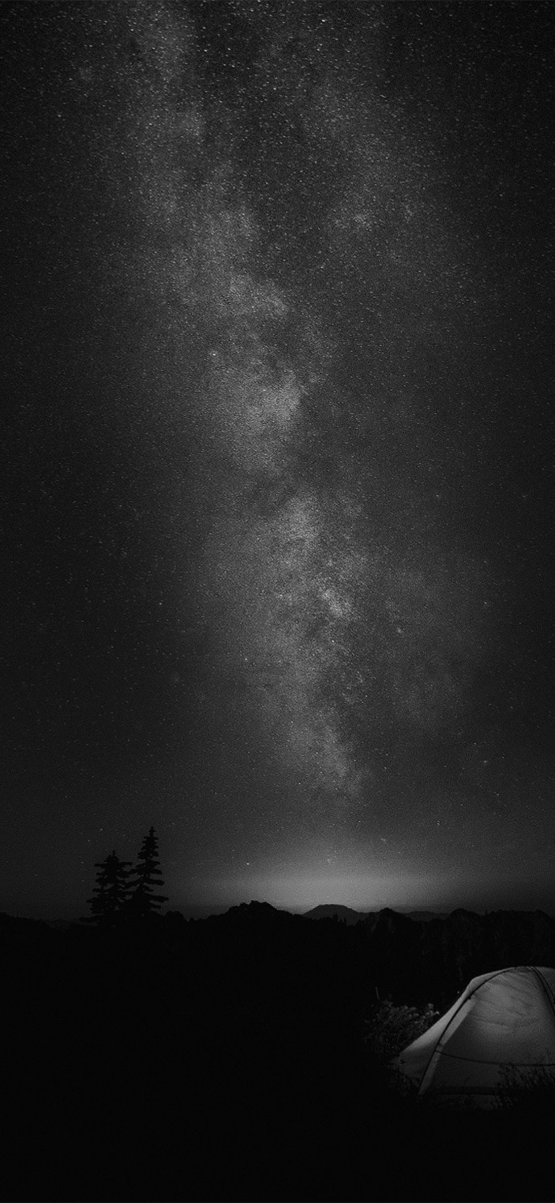 papers.co my86 camping night star galaxy milky sky dark space bw dark 41 iphone wallpaper