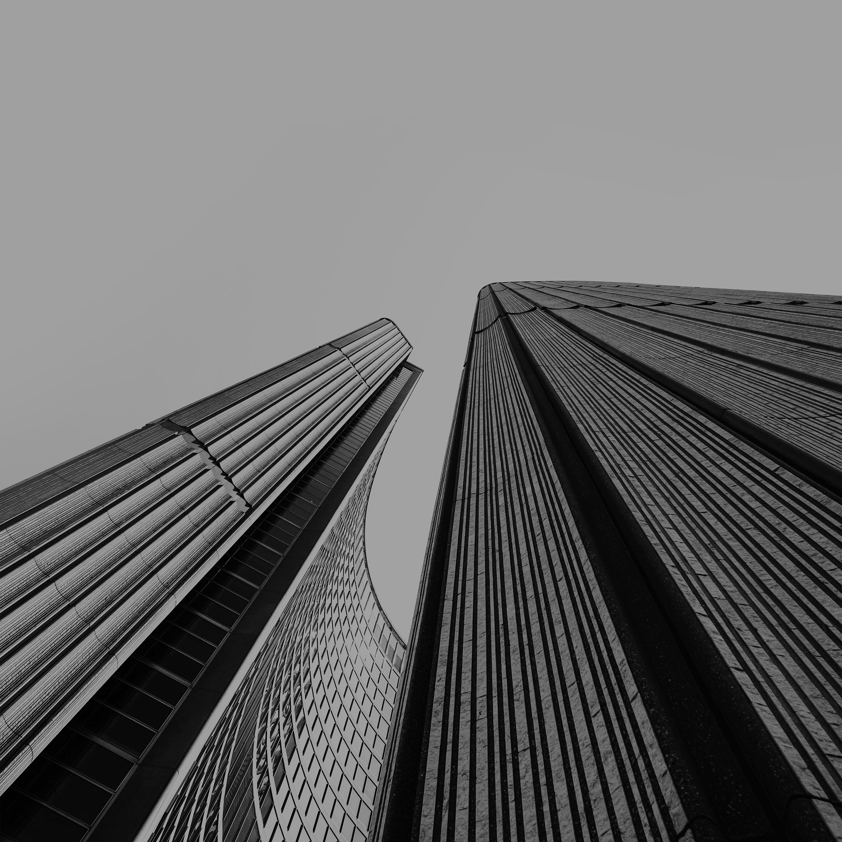 My93 Architecture Building City Art Dark Bw Black Wallpaper