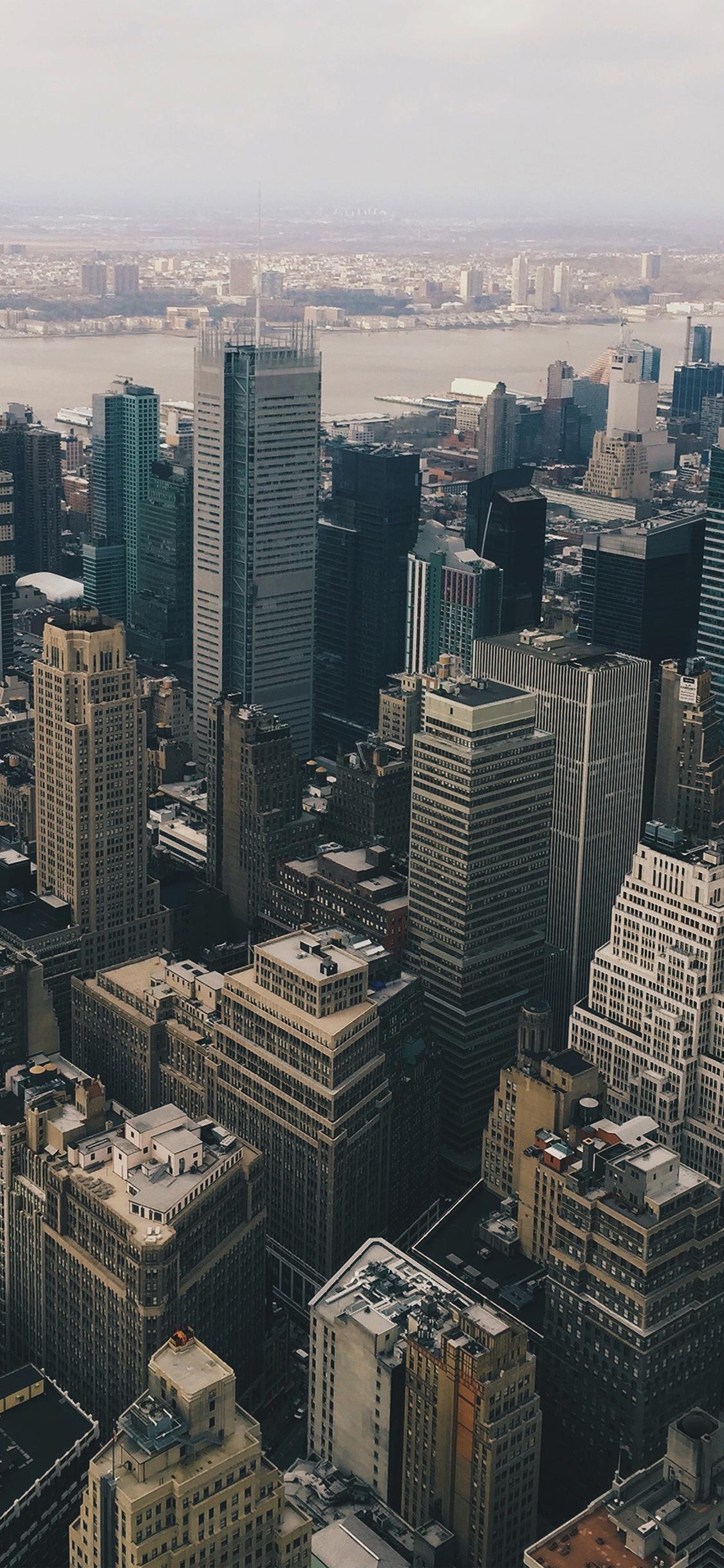 Iphonexpapers Com Iphone X Wallpaper Mz13 Cityview Sky Newyork Hm River