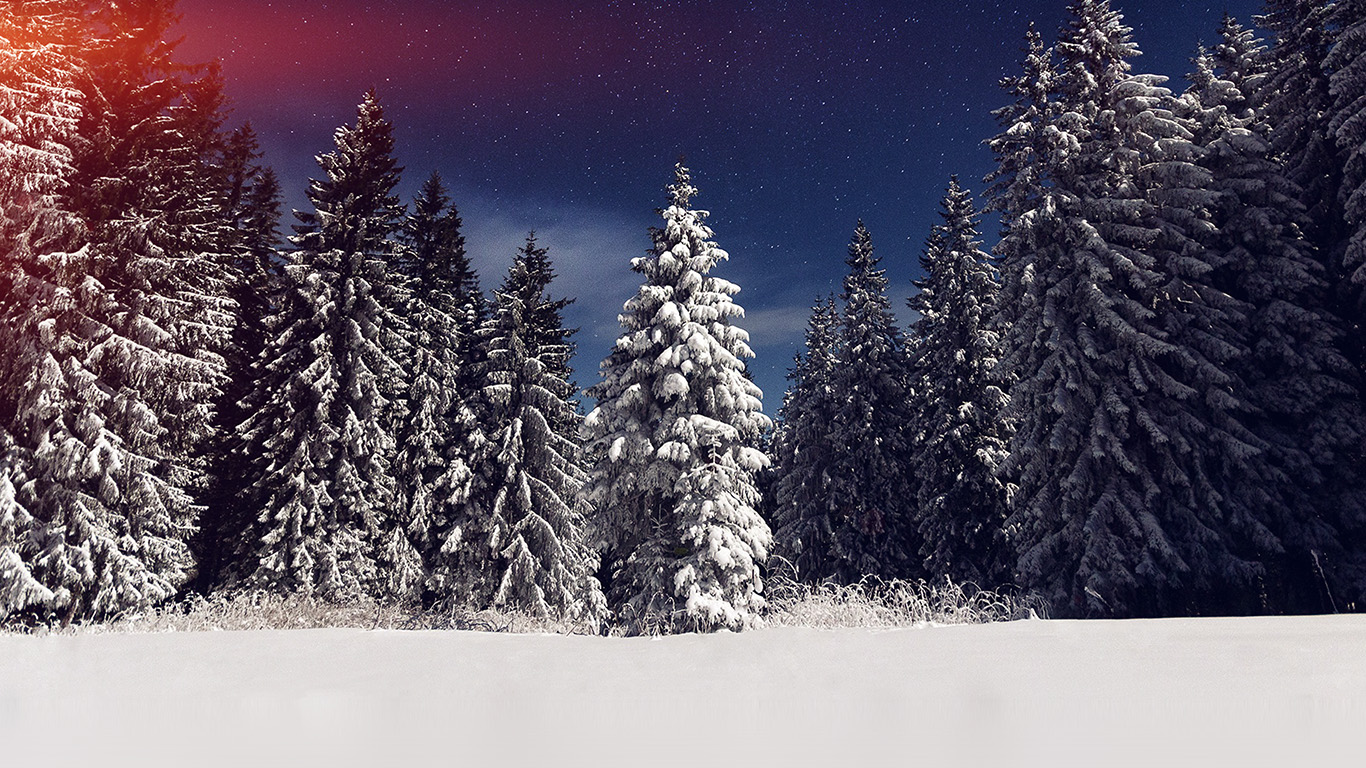 desktop-wallpaper-laptop-mac-macbook-air-mz24-snow-winter-wood-mountain-sky-star-night-flare-wallpaper