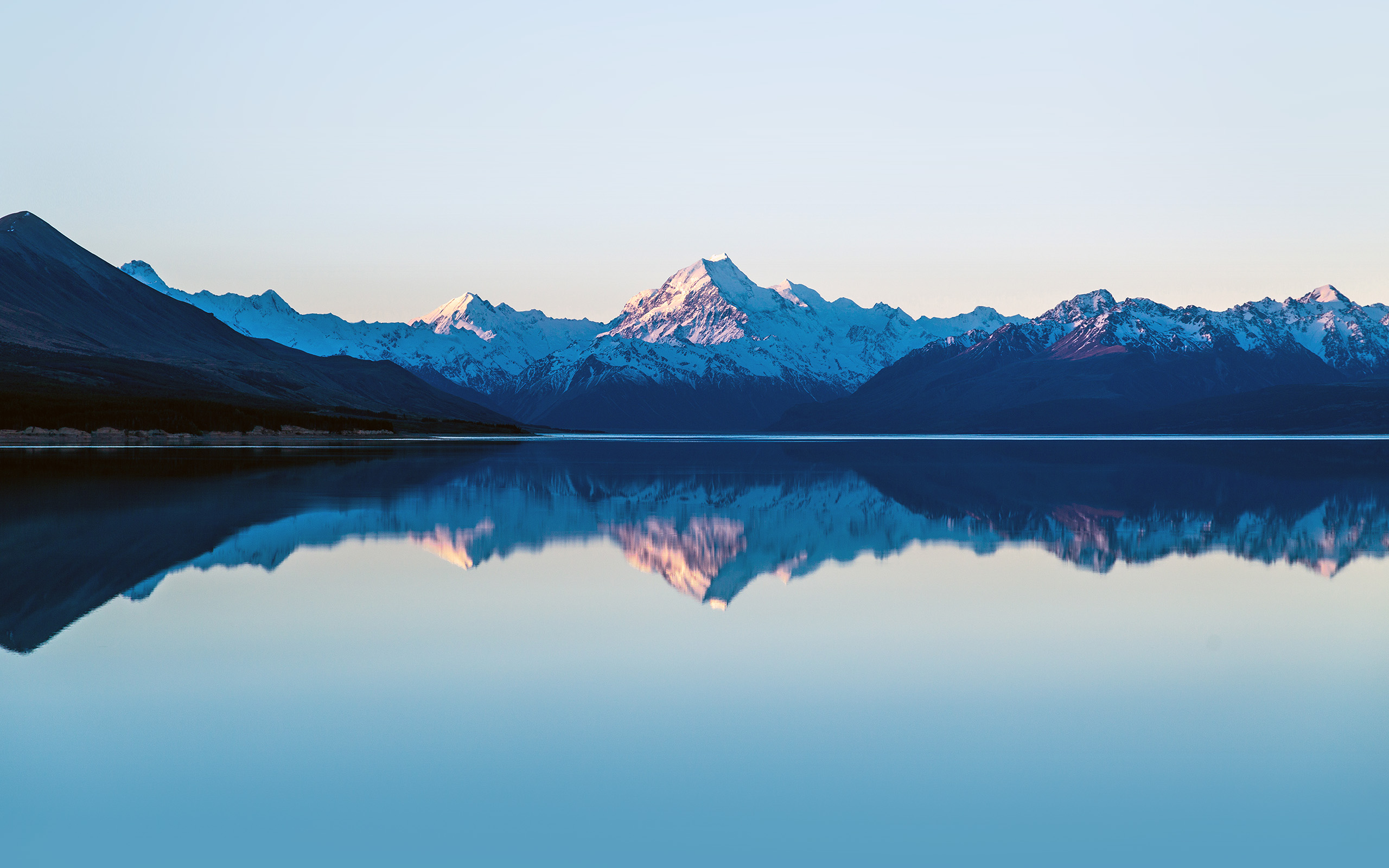 Minimalist Parallax Hd Iphone Ipad Wallpaper: Mz73-mountain-lake-beautiful-nature-blue-sky-wallpaper