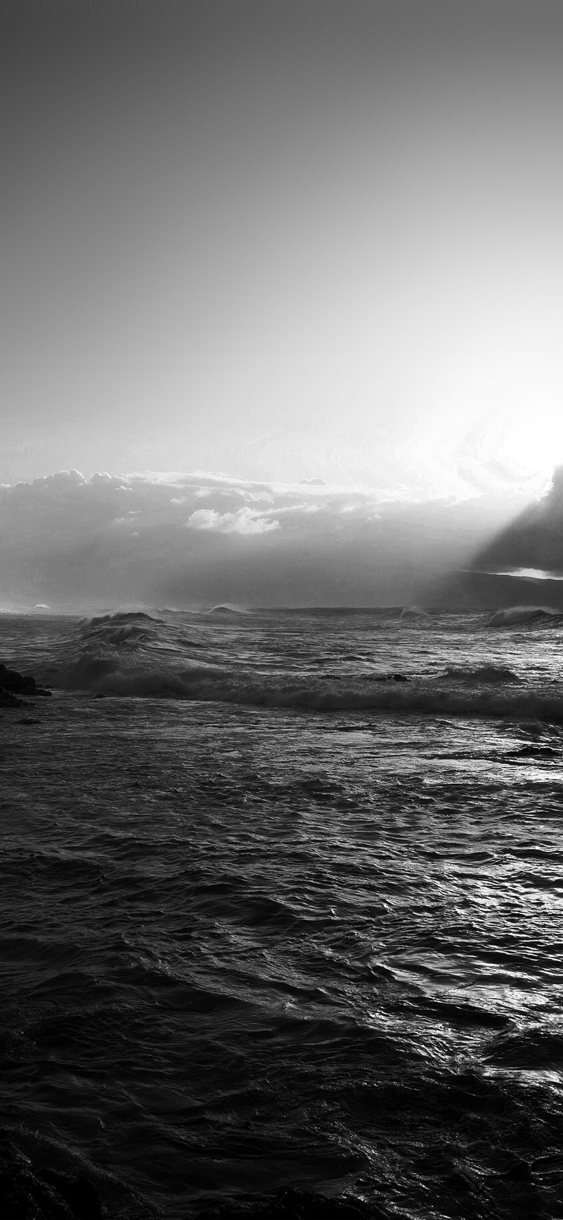 iPhonexpapers.com-Apple-iPhone-wallpaper-mz91-sea-ocean-rock-nature-wave-sky-bw-dark