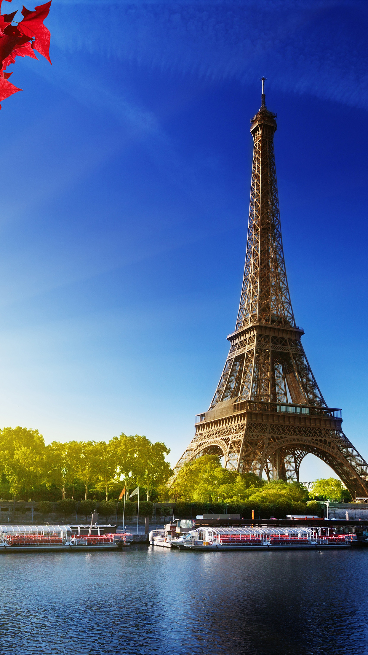 Papers Co Iphone Wallpaper Na16 Sky Blue Eiffel Tower Nature Paris City