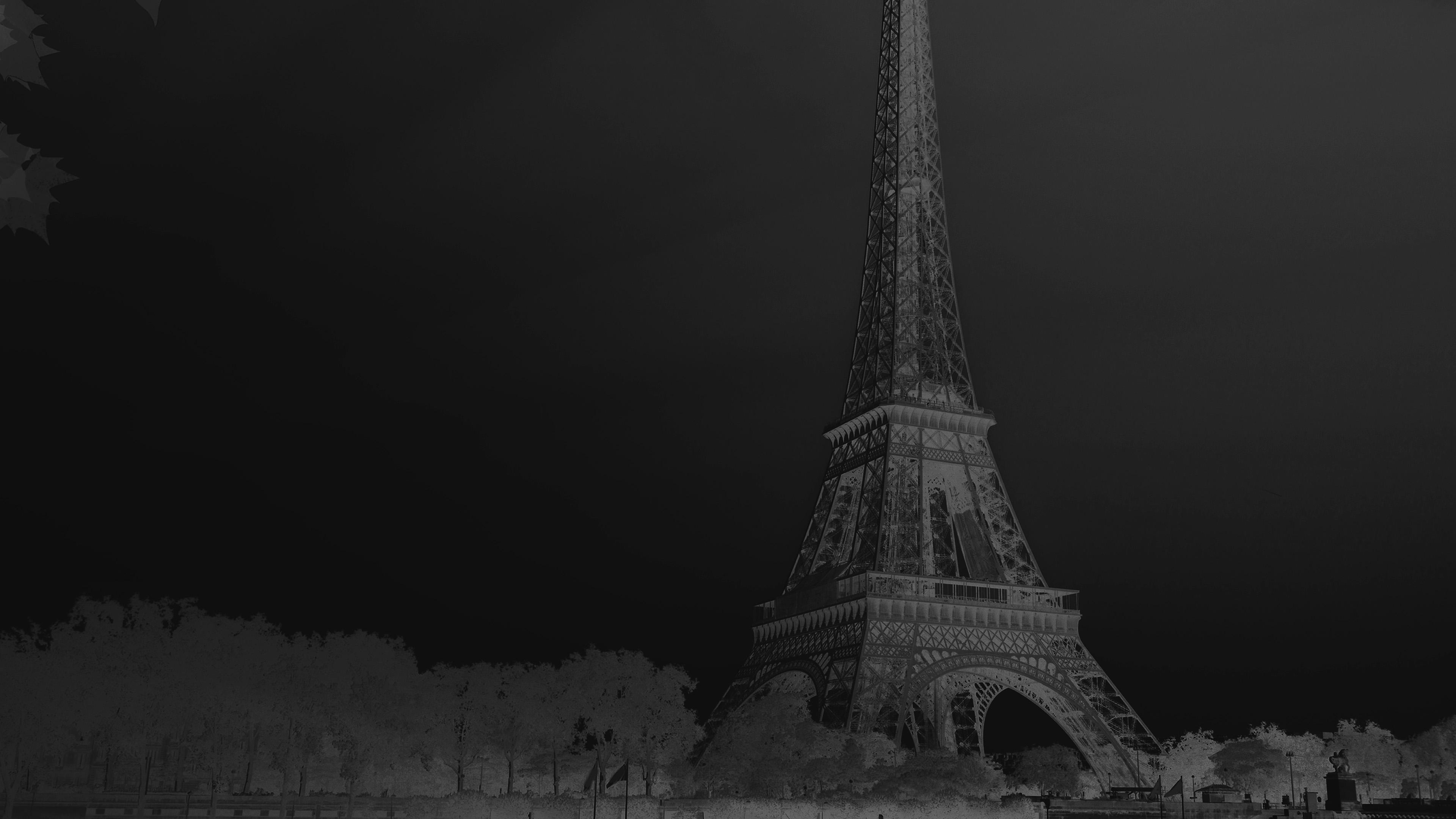 Na19 Sky Dark Bw Black Eiffel Tower Nature Paris City