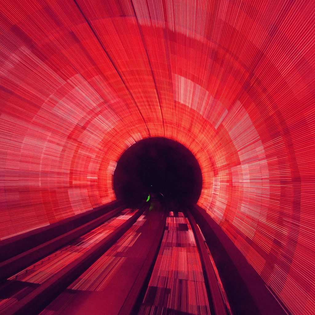 wallpaper-na54-tunnel-light-red-city-drive-car-wallpaper